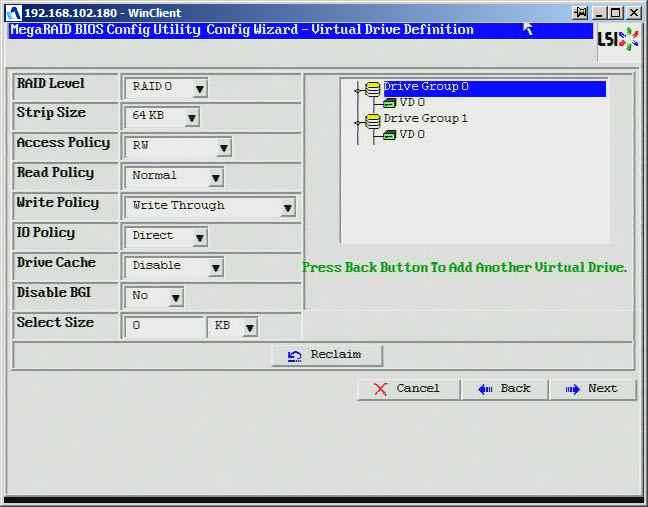 Как создать raid10, raid50, raid60, raid5 на контроллере LSI MegaRAID SAS PCI Express ROMB-22