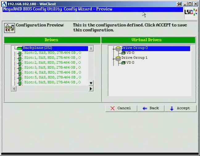 Как создать raid10, raid50, raid60, raid5 на контроллере LSI MegaRAID SAS PCI Express ROMB-23