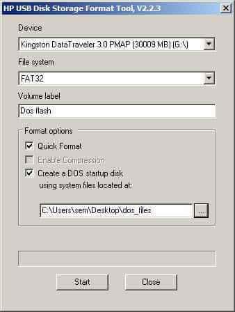 Как создать загрузочную флешку с DOS-03