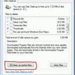 Как удалить старые файлы обновлений в Windows 7 с помощью мастера очистки диска