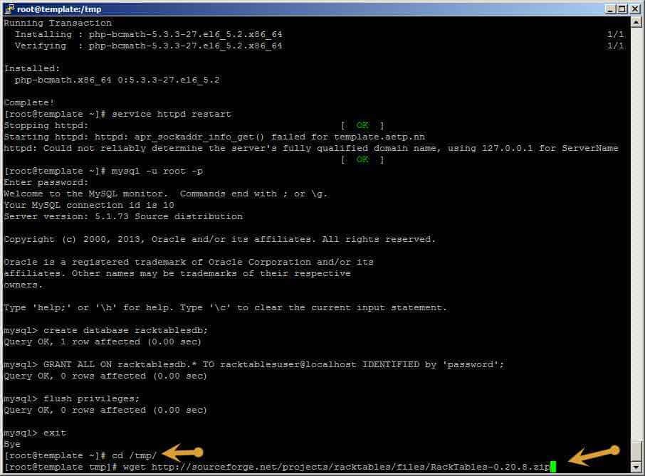 Как установить racktables на CentOS 6.5-26