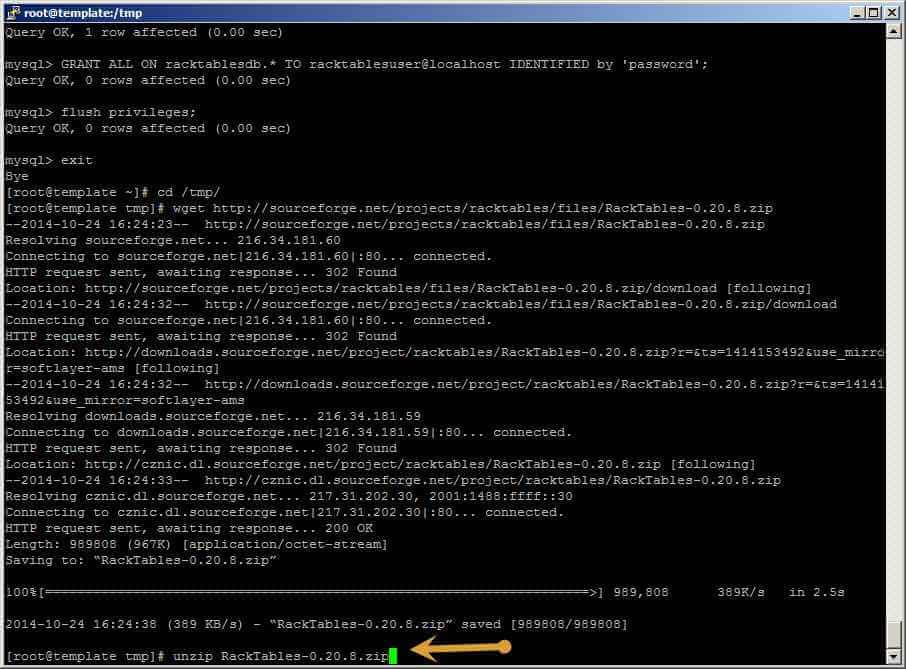 Как установить racktables на CentOS 6.5-27