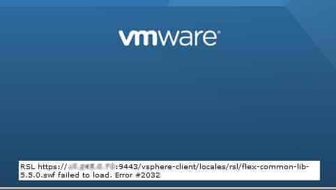Ошибка #2032. в WEB-клиенте VMWare vCenter Server Appliance 5.5