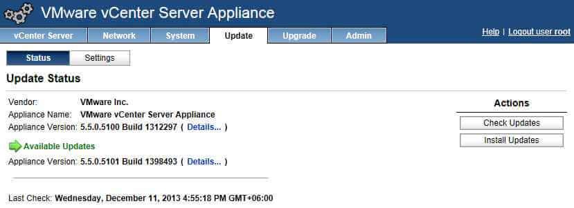 После проверки появляется информация об обновлении. Нажимаем кнопку Install Updates.
