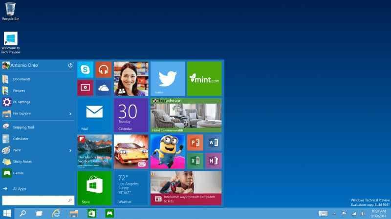 Первую предварительную версию Windows 10 установили более миллиона пользователей