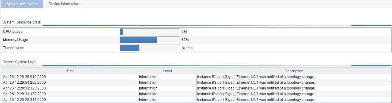 Сообщение MSTP_NOTIFIED_TC Instance 0's port GogabitEthernet1-0-1 was notified of a topology change в 3Com Baseline Switch 2952-SFP Plus-02