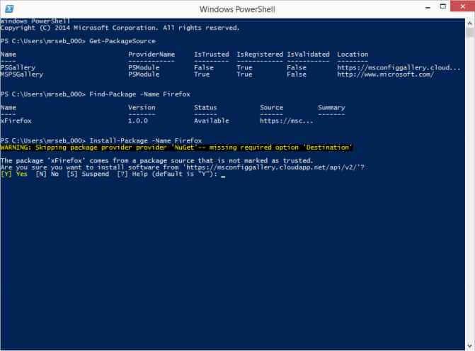 В Windows 10 появилась Linux подобная система управления пакетами OneGet-02