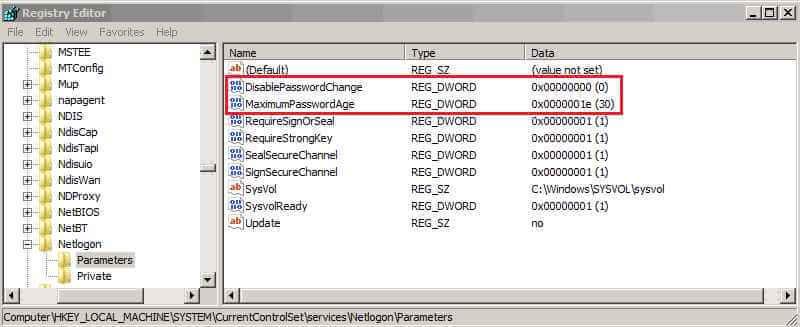Как можно увеличить срок сброса пароля учетной записи компьютера-02
