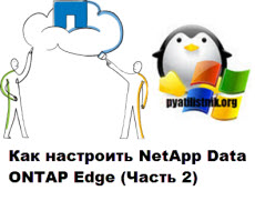 Как настроить NetApp Data ONTAP Edge 2