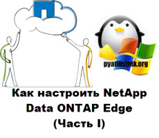 Как настроить NetApp Data ONTAP Edge