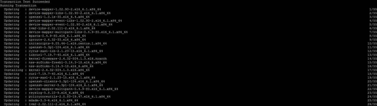 Как обновить (поставить обновления) CentOS-06
