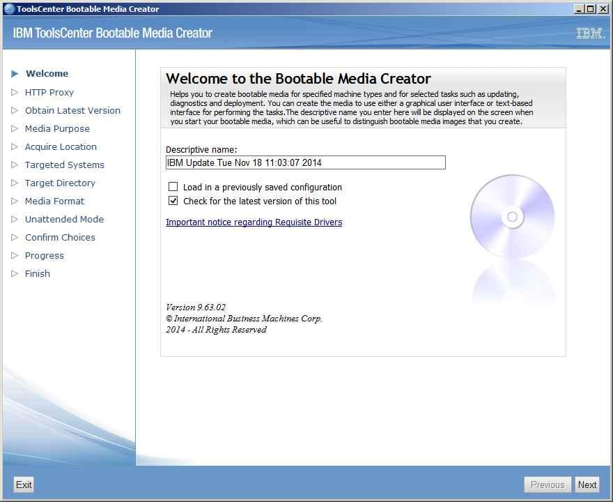 Как обновить все прошивки на IBM сервере с помощью IBM Bootable Media Creator (BoMC)-03