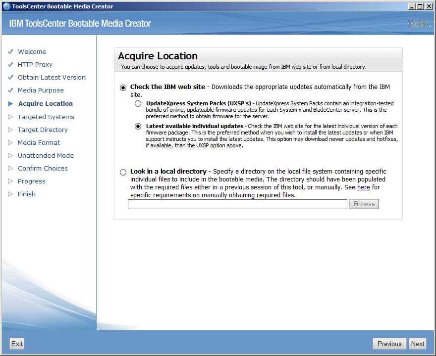 Как обновить все прошивки на IBM сервере с помощью IBM Bootable Media Creator (BoMC)-07