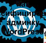 Как руссифицировать админку WordPress