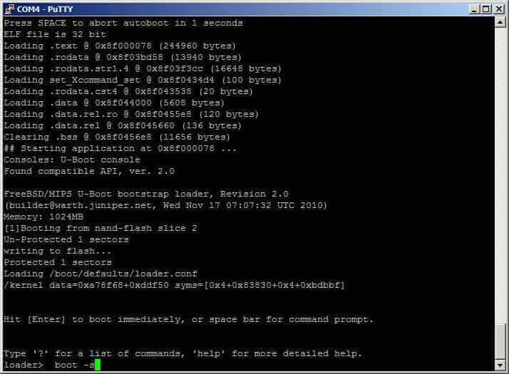 Как сменить пароль root в Juniper SRX-02