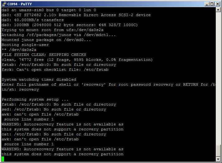 Как сменить пароль root в Juniper SRX-05