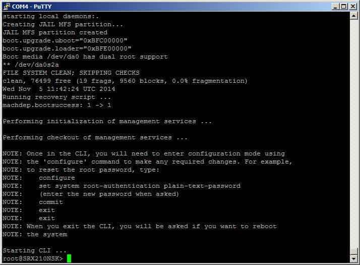 Как сменить пароль root в Juniper SRX-09