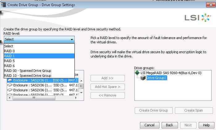 Как создать RAID на контроллере LSI MegaRAID через утилиту MegaRAID Storage Manager-16