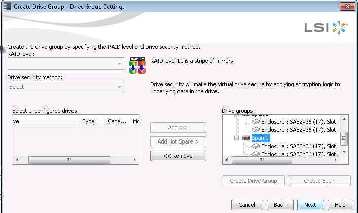 Как создать RAID на контроллере LSI MegaRAID через утилиту MegaRAID Storage Manager-22