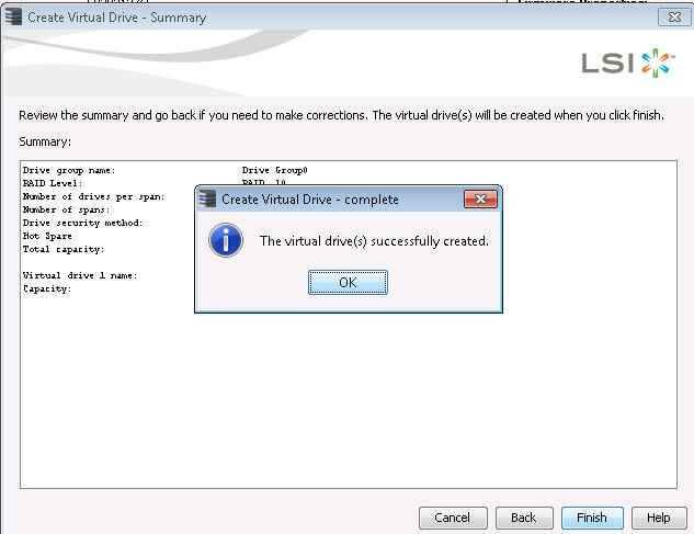Как создать RAID на контроллере LSI MegaRAID через утилиту MegaRAID Storage Manager-27
