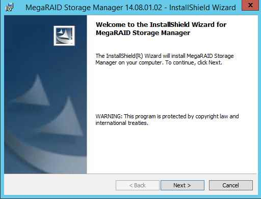 Как установить MegaRAID Storage Manager (MSM) в windows server 2012R2-07