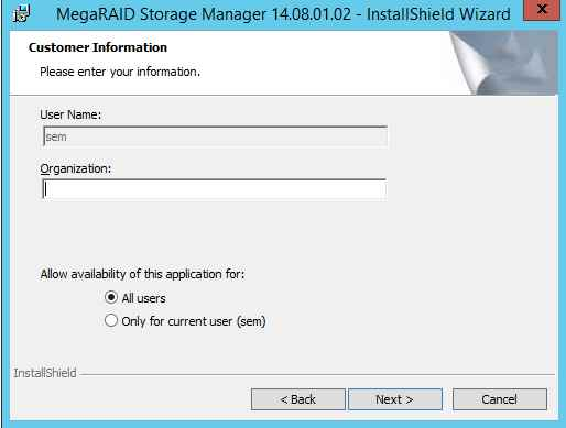 Как установить MegaRAID Storage Manager (MSM) в windows server 2012R2-09