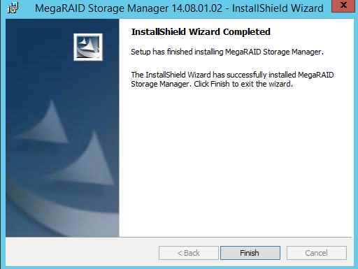 Как установить MegaRAID Storage Manager (MSM) в windows server 2012R2-15