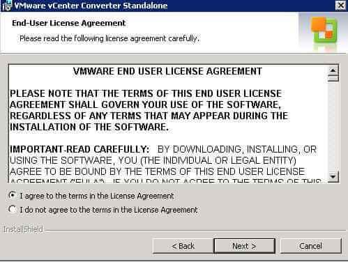 Как установить VMware vCenter Converter Standalone 5.x.x-04