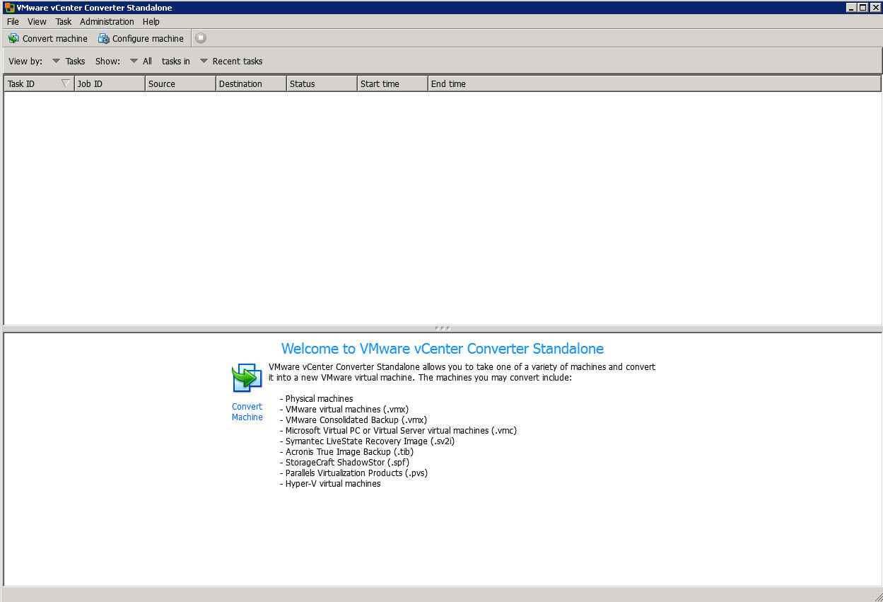 Как виртуализовать физический сервер с помощью VMware vCenter Converter Standalone 5.x.x-01