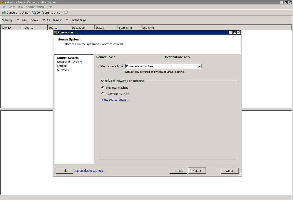 Как виртуализовать физический сервер с помощью VMware vCenter Converter Standalone 5.x.x-02