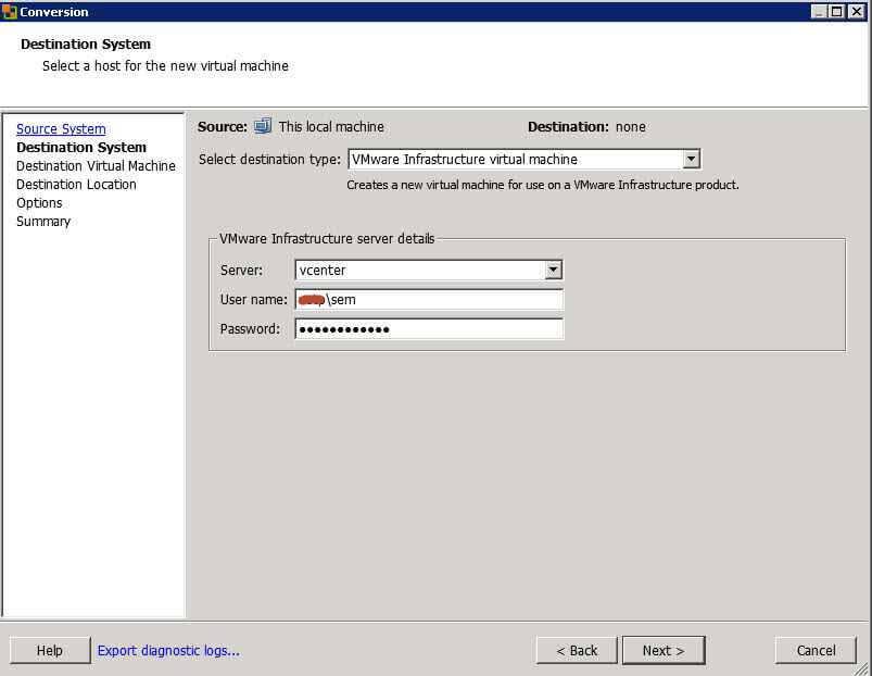 Как виртуализовать физический сервер с помощью VMware vCenter Converter Standalone 5.x.x-03