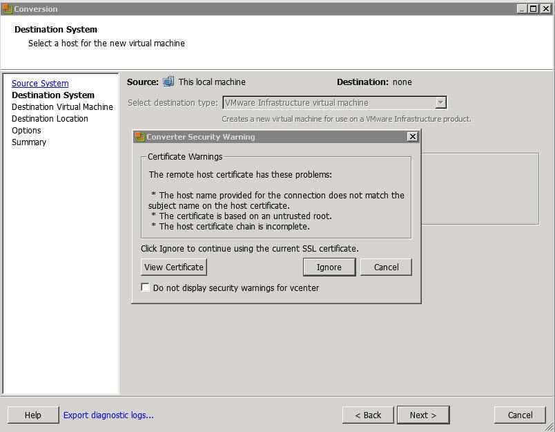 Как виртуализовать физический сервер с помощью VMware vCenter Converter Standalone 5.x.x-04