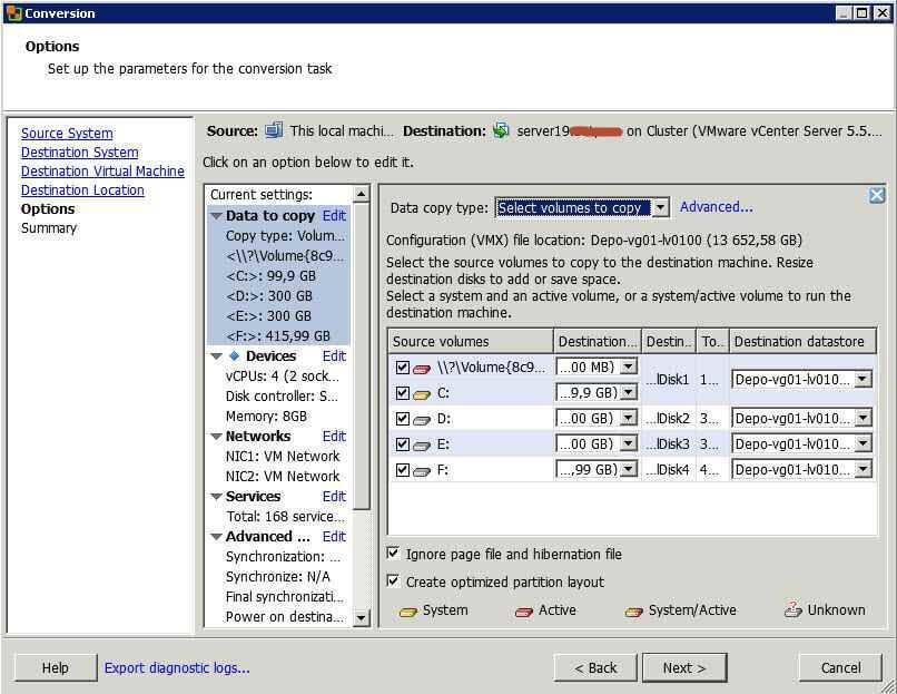 Как виртуализовать физический сервер с помощью VMware vCenter Converter Standalone 5.x.x-07