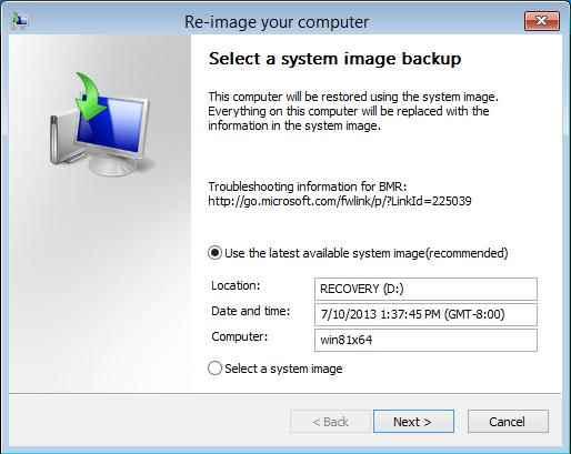 Резервное копирование и восстановление образа системы в Windows 8.1-06
