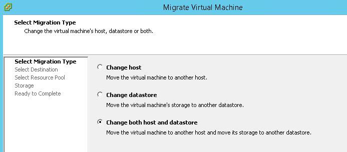 вида миграции виртуальной машины