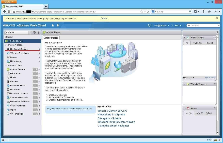 Как добавить ESXI хост в vCenter через Web Client-01