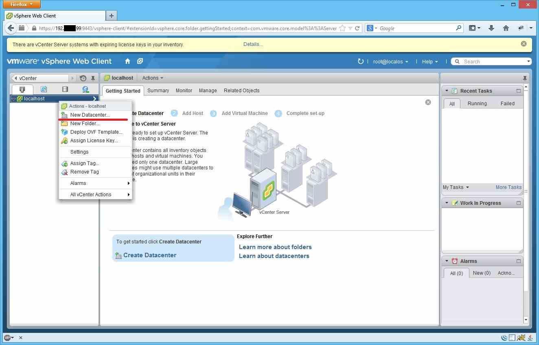 Как добавить ESXI хост в vCenter через Web Client-02Как добавить ESXI хост в vCenter через Web Client-02