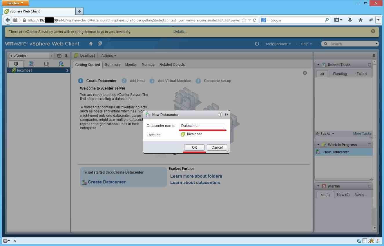 Как добавить ESXI хост в vCenter через Web Client-03
