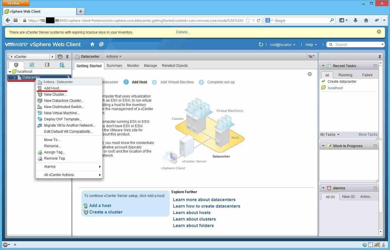 Как добавить ESXI хост в vCenter через Web Client-04