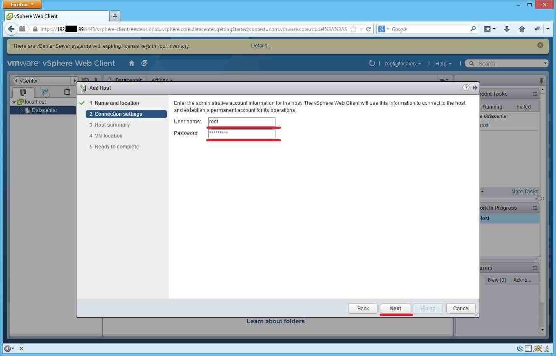 Как добавить ESXI хост в vCenter через Web Client-06