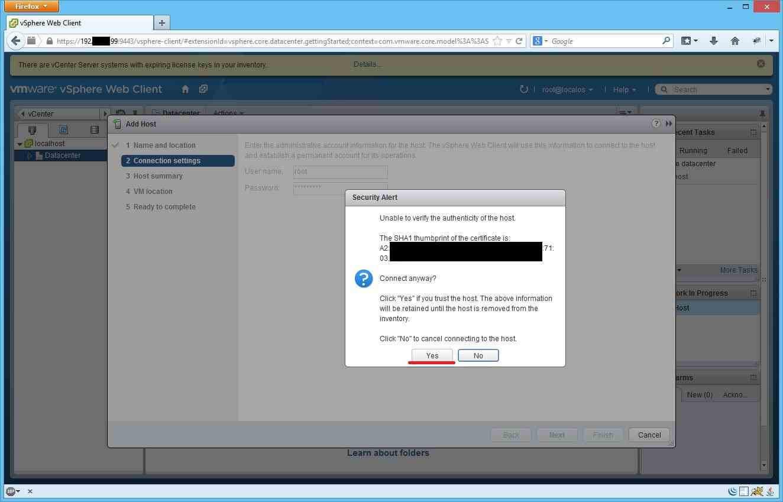 Как добавить ESXI хост в vCenter через Web Client-07