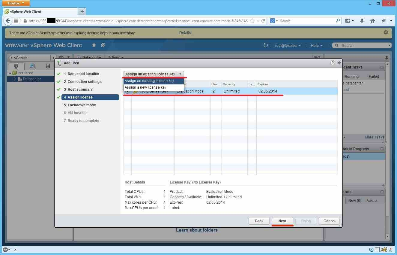 Как добавить ESXI хост в vCenter через Web Client-09