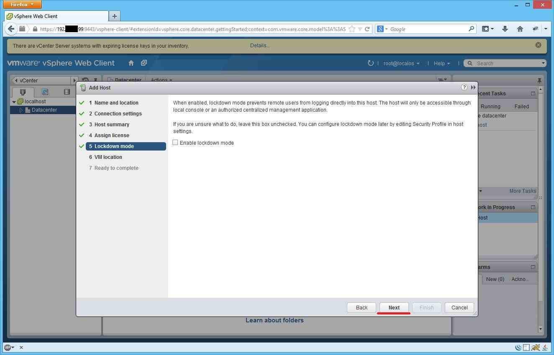 Как добавить ESXI хост в vCenter через Web Client-10