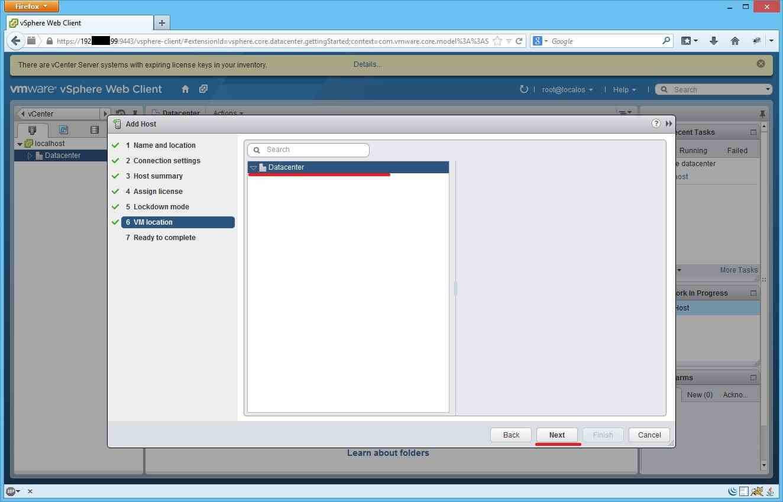 Как добавить ESXI хост в vCenter через Web Client-11