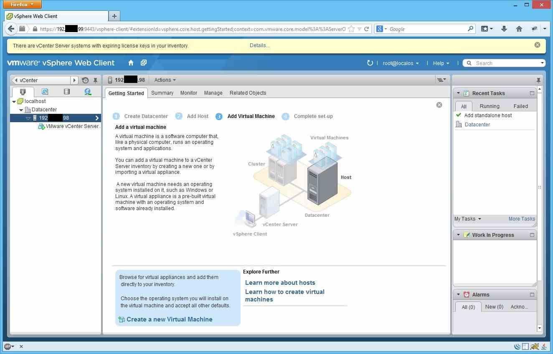 Как добавить ESXI хост в vCenter через Web Client-13