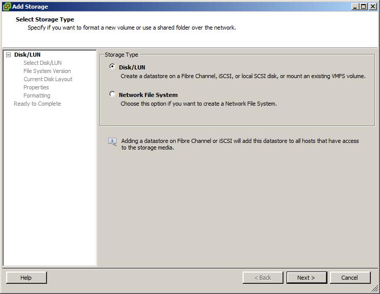 Как добавить iscsi адаптер в ESXI 5.x.x и подключить iscsi диск-13
