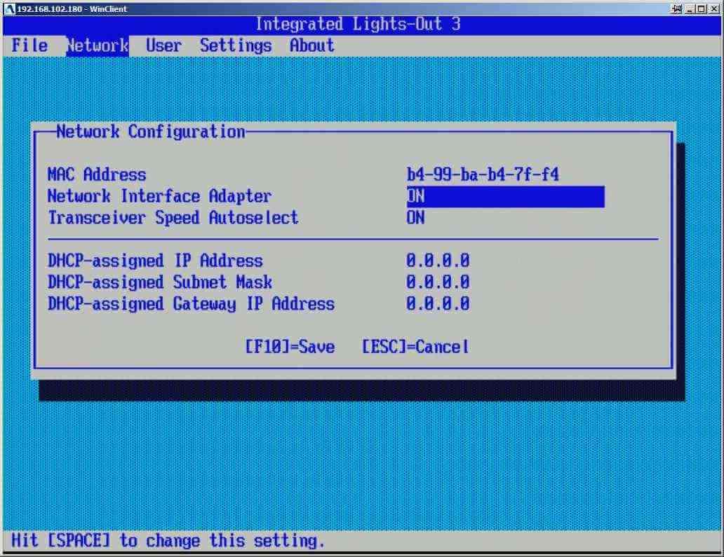 Как настроить ILO управление на сервере HP dl380 g7-02