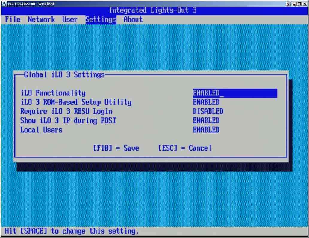 Как настроить ILO управление на сервере HP dl380 g7-08