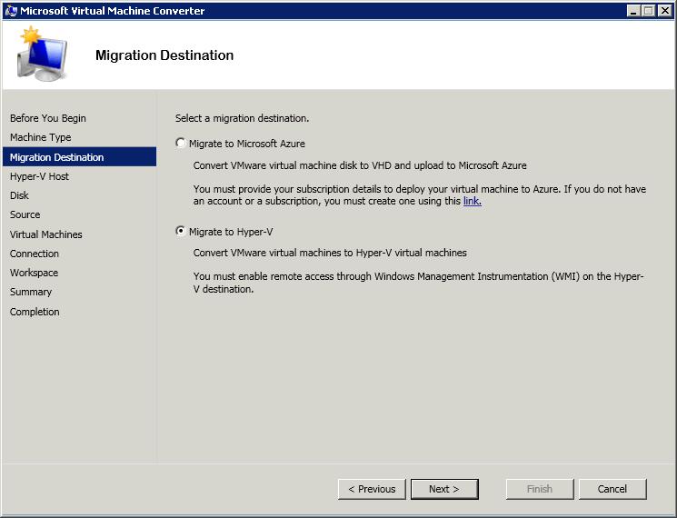Как сконвертировать виртуальную машину ESXI 5.5 (vmdk) в Hyper-V (vhdx) с помощью Virtual Machine Converter 3.1-03