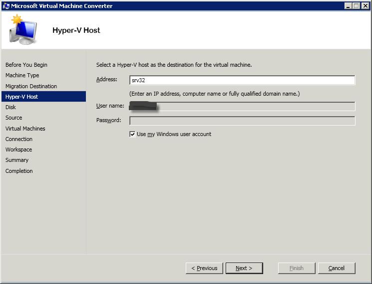 Как сконвертировать виртуальную машину ESXI 5.5 (vmdk) в Hyper-V (vhdx) с помощью Virtual Machine Converter 3.1-04